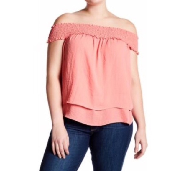 1c5d50ffa35d0 Airflow Chiffon Off-The-Shoulder Blouse